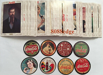 1993 Coca-Cola Collection Series 1 Complete 100 Card Set + All 8 Pogs - Mint !!