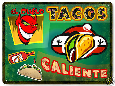 MEXICAN TACO metal SIGN hot sauce collectible great gift VINTAGE style decor 182