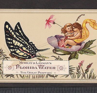 Antique Florida Water 1870's Fairy Perfume Pain Cure Victorian Advertising Card