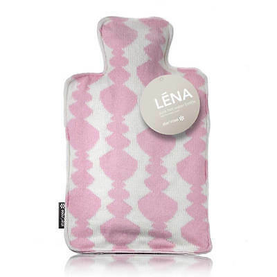 LENA Pink Knitted Cover Hot Water Bottle
