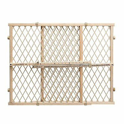 Gate Extra Tall Pet Door Fence Child Lock Wide Wood Dog Barrier Baby Safety Tan