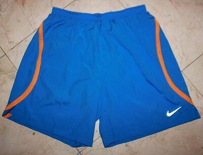 """NWT Men's NIKE Dri-Fit Lined 7"""" Challenger 2-in-1 Running Shorts Blue - Large"""