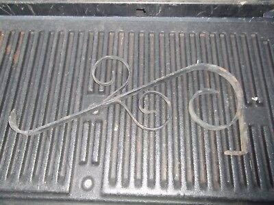 ANTIQUE Vintage Wrought Cast Iron Scroll Gas Store Sign Bracket ESTATE FIND 24""