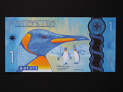 Antarctica Banknotes - Great $1 Polymer Art Note   *  Superb Unc  *