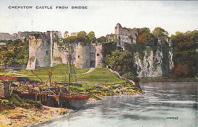 The Castle From Bridge, CHEPSTOW, Monmouthshire