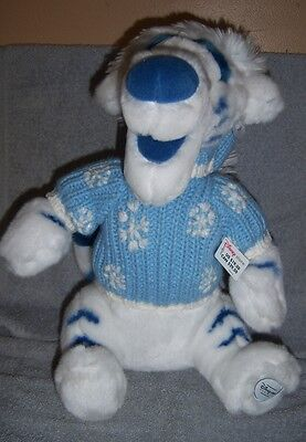 "Disney Store Exclusive Tigger Winter White (12"") - Blue & White Hat & Sweater"
