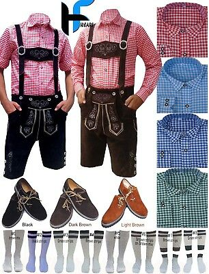 Authentic German Bavarian Oktoberfest Trachten Men Lederhosen outfit Package Set