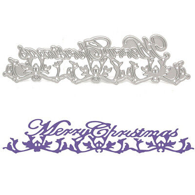 Metal Merry Christmas Cutting Dies Stencil For DIY Scrapbook Album Paper Card
