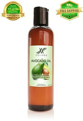 Avocado Oil 4 oz REFINED ORGANIC NATURAL CARRIER Cold Pressed FRESH 100% PURE