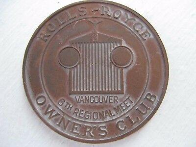 Vintage Rolls Royce Owner's Club Collectible Token - Vancouver BC