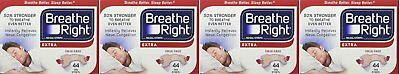 Breathe Right, Extra Strong Nasal Strips One Size Fits All 44 Count VFdGV Pack 4