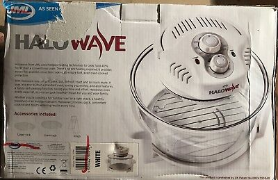 JML Halowave Halogen Oven 1400W, 10.5 Litres. White. PRICED REDUCED