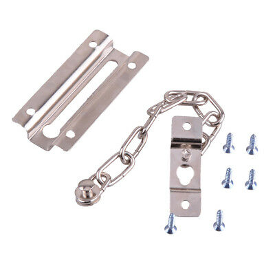Iron Door Security Safety Safe Chain Guard Fastener Silver Lock Bolt Home Hotel