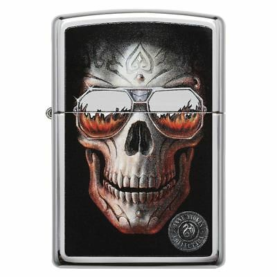 Official Anne Stokes Coll 6 High Polish Chrome Zippo Lighter - Boxed Gift