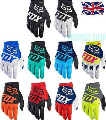 UK NEW FOX DIRTPAW Full Finger Gloves Motocycle Cycling Bicycle Racing MTB Mitts