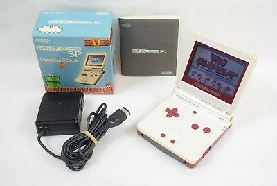 Game Boy Advance SP AGS-001 Nintendo FAMICOM COLOR Console Boxed Gameboy 15115