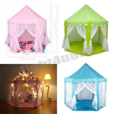Kids Play Tent Children Fairy Princess Girls Boys Castle Playhouse In/Outddor UK