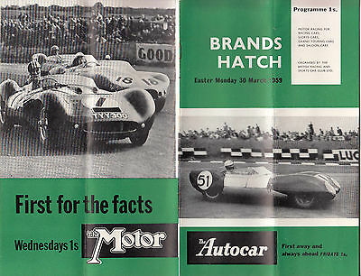 Brands Hatch Easter Monday 30.march.1959, Programme, Envelope, Tickets, Ect.