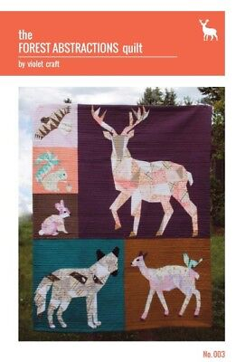 Violet Craft - The Forest Abstractions Quilt Pattern.