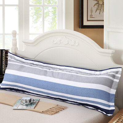 Cotton Large Printing Pillowcase Body Bed Pillow Zipper Protector Cove Case TP