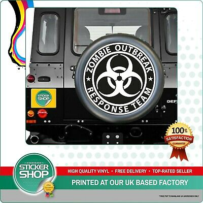 ZOMBIE OUTBREAK RESPONSE TEAM SPARE WHEEL COVER STICKER 4x4