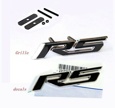 2x OEM Grille SS 3D Emblem Decal SS Badge For Camaro Chevy series Red line Y