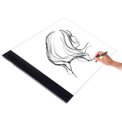 New A4 LED Artist Thin Art Stencil Board Light Box Tracing Drawing Board Table