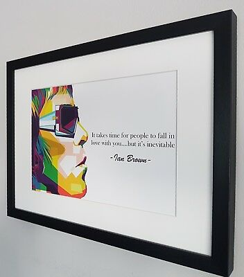 Ian Brown Stone Roses Luxury Framed Limited Edition Print Certificate RARE Oasis