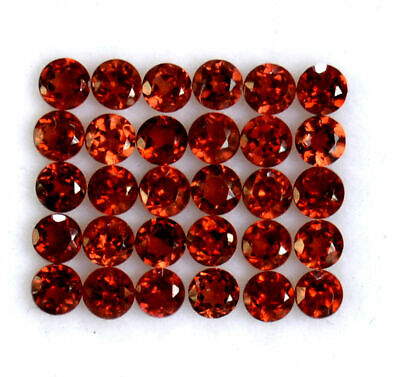 Natural Red Garnet 3mm Faceted Round Cut Lot Loose AAA Gemstone