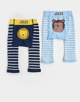 Joules 124473 Baby Boys Lively Knitted Leggings in Lion in 2 Pack