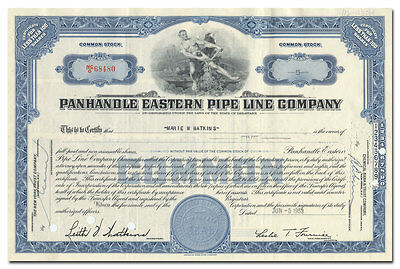 Panhandle Eastern Pipe Line Company Stock Certificate