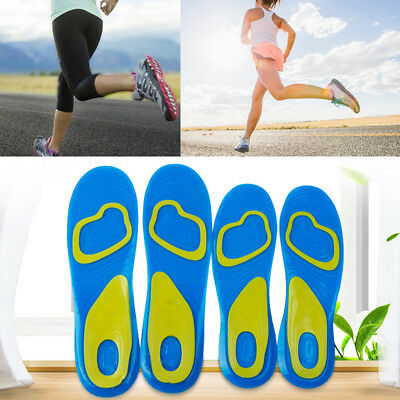 Female Male Shock Gel Active Activ Everyday Work Sport Insoles For Men Women