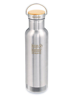 Klean Kanteen - Insulated 592ml Reflect Brushed Stainless, Bamboo Top Bottle