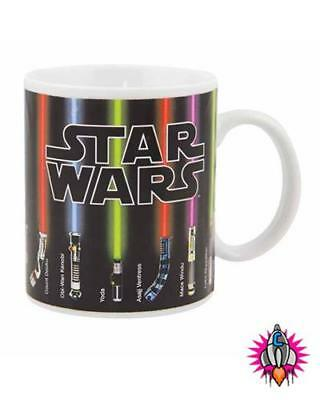 Star Wars Lightsabre Heat Changing Magic Coffee Mug Cup New Gift Box