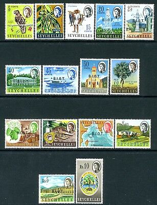 BRITISH INDIAN OCEAN TERRITORY-1968 Set to 10r Sg 1-15 UNMOUNTED MINT V19004