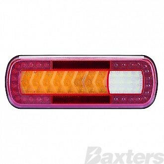 LED Combintion Lamp 10-30V Stop/Tail/Ind/Rev/Fog/Ref 283x100x29 Sequential Indic