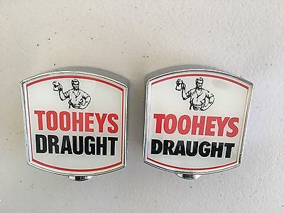 Tooheys Draught Beer Tap Tops (2) Different Variations Harder To Get