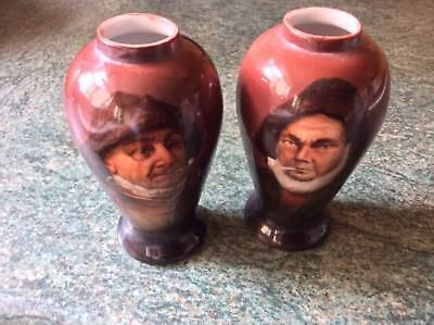 A Pair Of American Warwick Pottery Vases