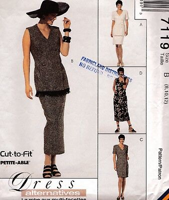 Vtg 90s UC McCALLs Pattern 7119 Jacket Fitted Dress Skirt 2 Lengths Sz 8 10 12