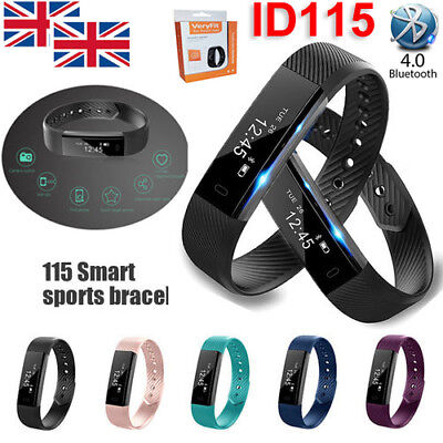 Smart Fit Watch Activity Step Tracker Calorie Counter Bracelet Wristband U.k.