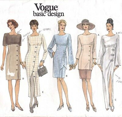 Vtg 90s UC Vogue Basic Design Pattern 1423 Dress 2 Lengths Tunic Skirt 8 10 12