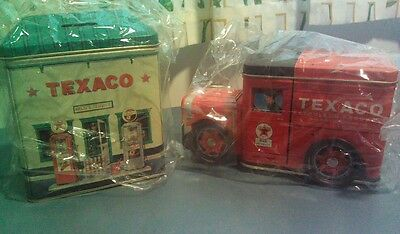 Texaco Bank Tin #1, 2 Brand New. Never Used MAKE AN OFFER