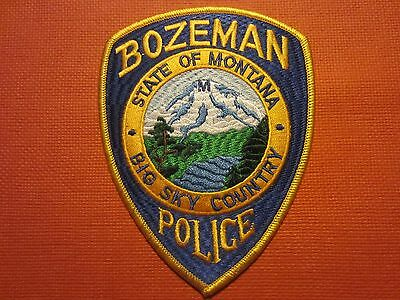 Collectible Montana Police Patch Bozeman New