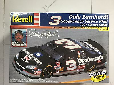 Revell 1/24 #3 Dale Earnhardt Goodwrench Monte Carlo Nascar Model # 85-2375 F/s
