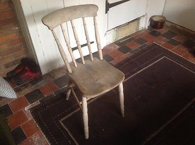 Lovely Old Farmhouse Victorian Pine Kitchen Chair Dining
