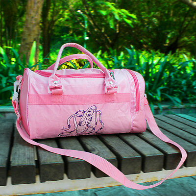 Pink Girl Kids Gymnastics Dance Ballet Swim Duffle Bag Backpack Embroidered Tote