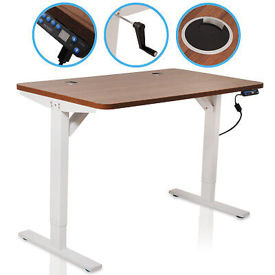Aluminium Electric Xl Height Adjustable Home Office Pc Computer Sit Stand Desk