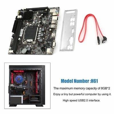 For Intel H61 LGA 1155X 4*DDR3 Motherboard core For generation 2/3 CPU USB3.0 ye