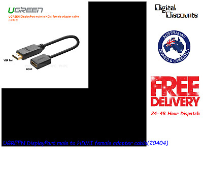 UGREEN DisplayPort male to HDMI female adapter cable(20404)