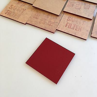 "Beseler Enlargers 67 23c 45 - 2 3/8"" Square Red Safety Filter New Old Stock!"